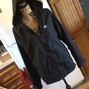 Adidas mesh lined jacket size women's large